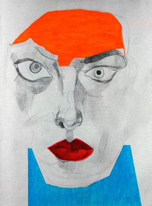 Grafito y rotuladores / 27 cm x 20 cm