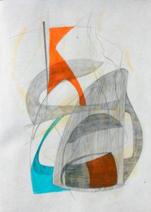 Grafito y lápices cera / 27 cm x 20 cm