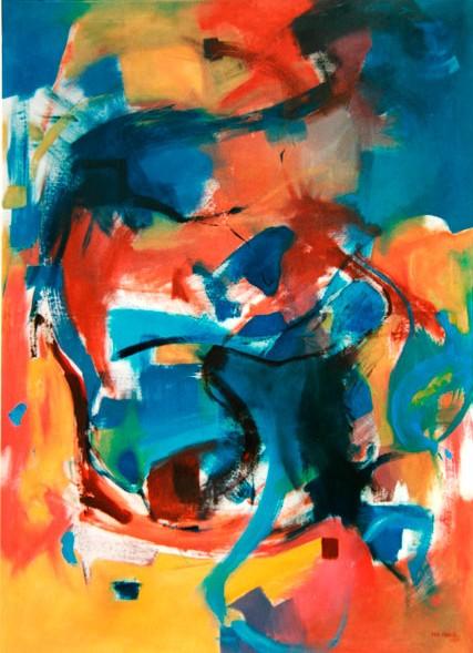 """Workshop """"Dialogue VII"""" 2001 Stralsund, Alemania. Propiedad de Stralsund Oleo sobre lienzo / 125 cm x 95 cm"""